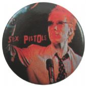 Sex Pistols - 'Johnny Stage Black' Button Badge